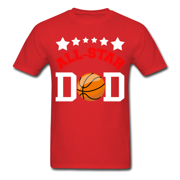 All Star Basketball Dad T-Shirt 3930 - red