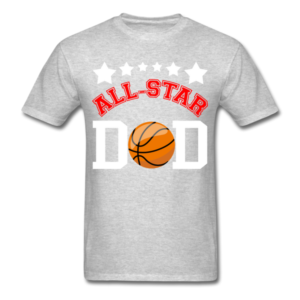 All Star Basketball Dad T-Shirt 3930 - heather gray