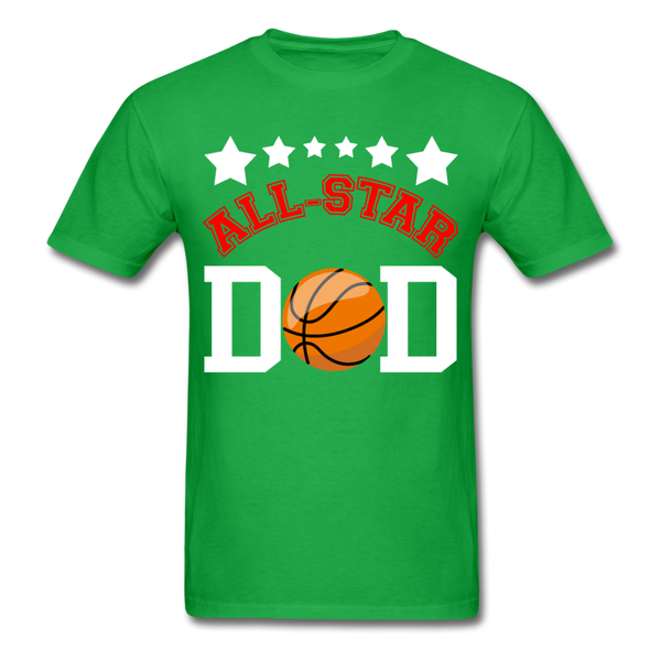 All Star Basketball Dad T-Shirt 3930 - bright green