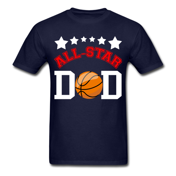All Star Basketball Dad T-Shirt 3930 - navy