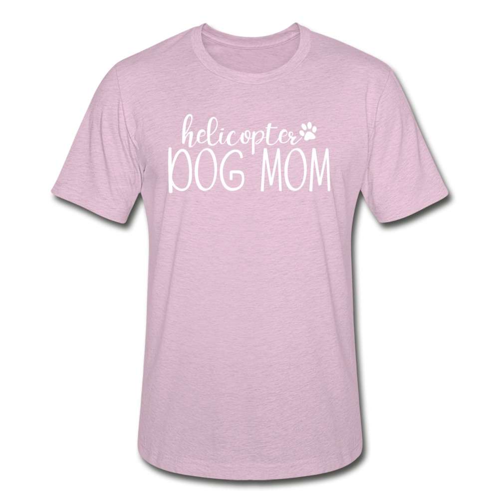 Helicopter Dog Mom Unisex Heather Prism T-Shirt - heather prism lilac