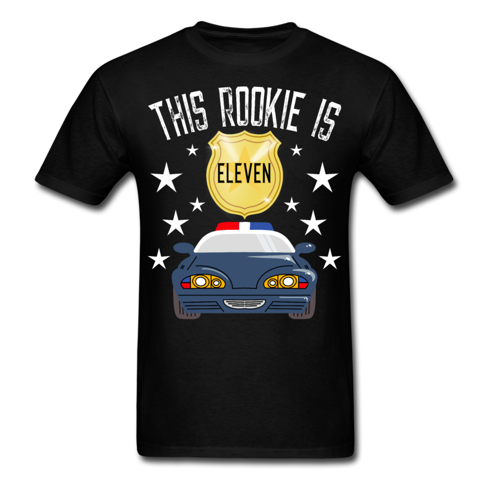 Police Car This Rookie is 11 Men's T-Shirt 3930 - black