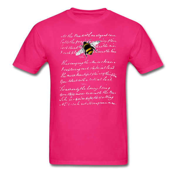 Honey Bee & Vintage French Script T-Shirt 3930 - fuchsia