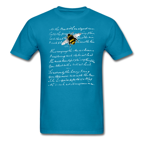 Honey Bee & Vintage French Script T-Shirt 3930 - turquoise