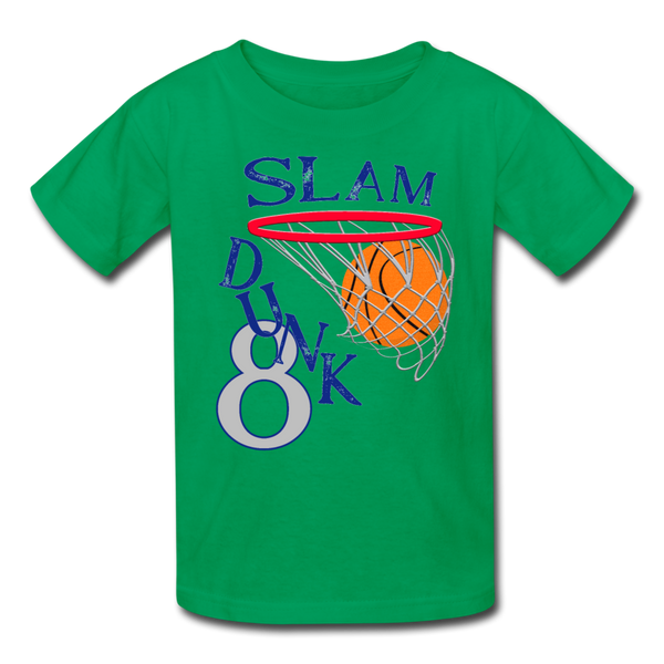 Slam Dunk 8 Basketball Kids' T-Shirt - kelly green