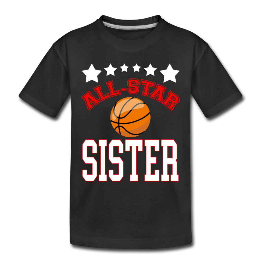 All Star Sister Basketball Toddler Premium Organic T-Shirt - black