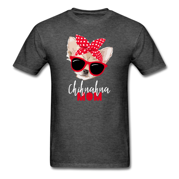 Chihuahua Mom Unisex Classic T-Shirt 3930 - heather black