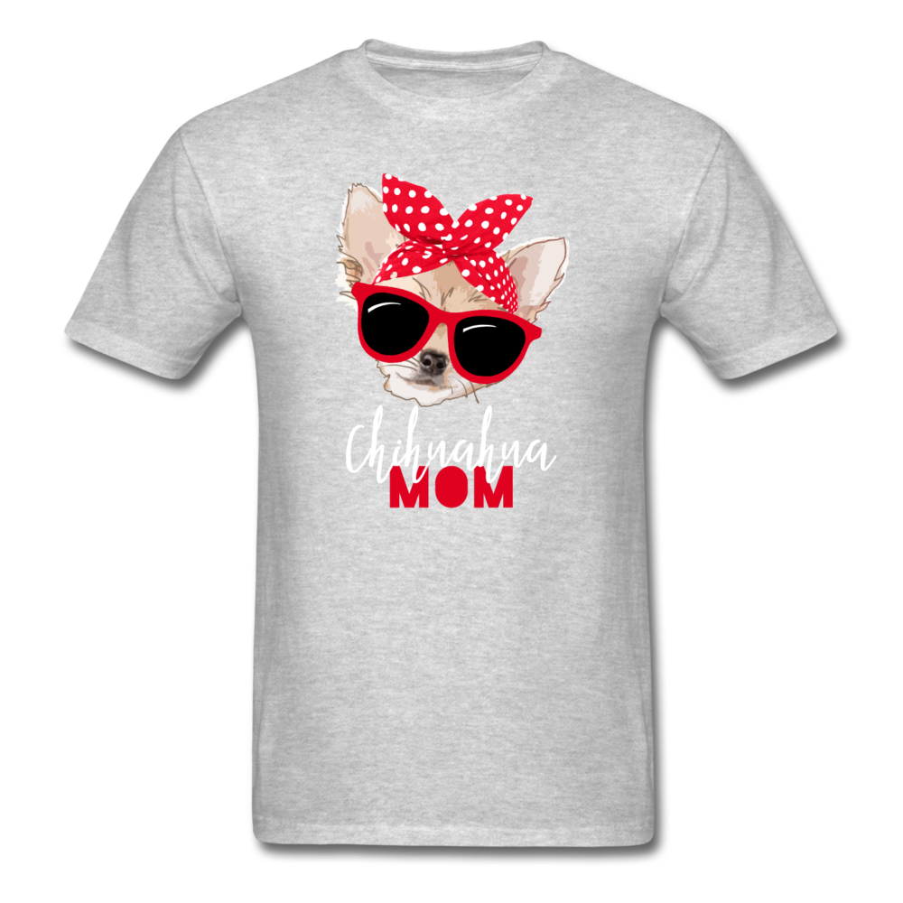 Chihuahua Mom Unisex Classic T-Shirt 3930 - heather gray