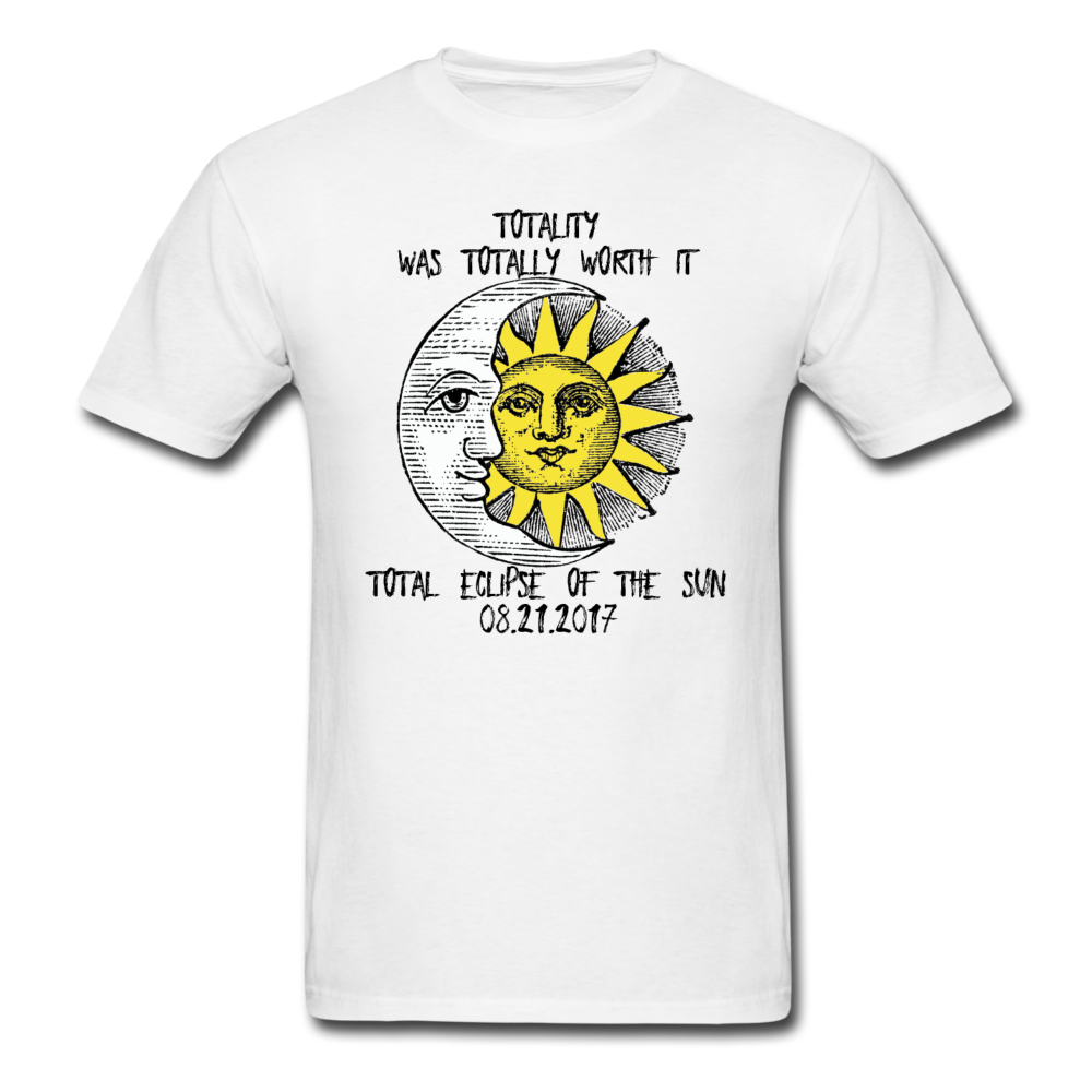 Totality Was Totally Worth It Men's T-Shirt 3930 - white