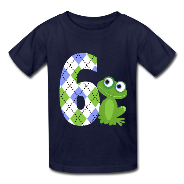 Argyle Blue Frog 6 Kids' T-Shirt - navy