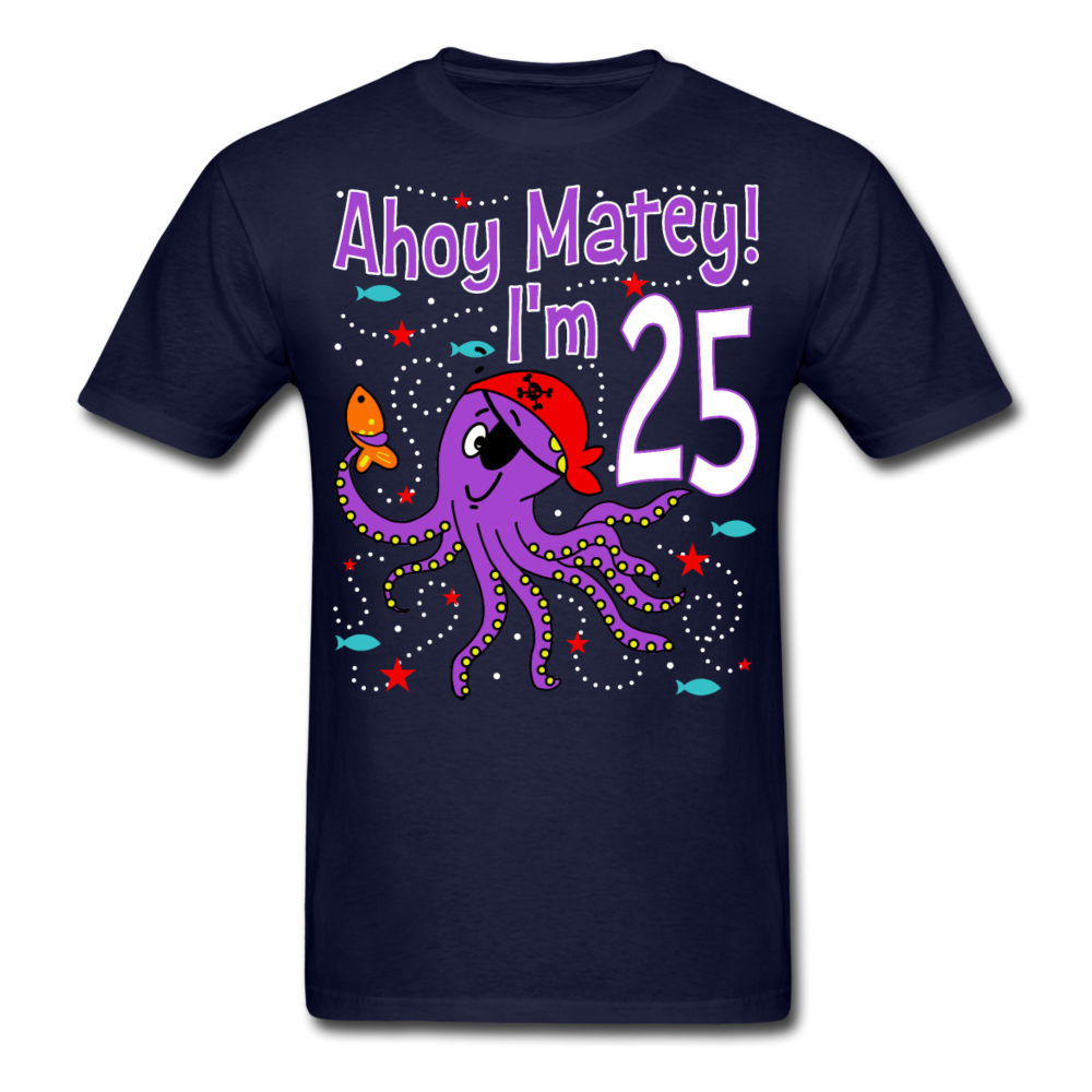 Pirate Octopus 25 Unisex Classic T-Shirt - navy