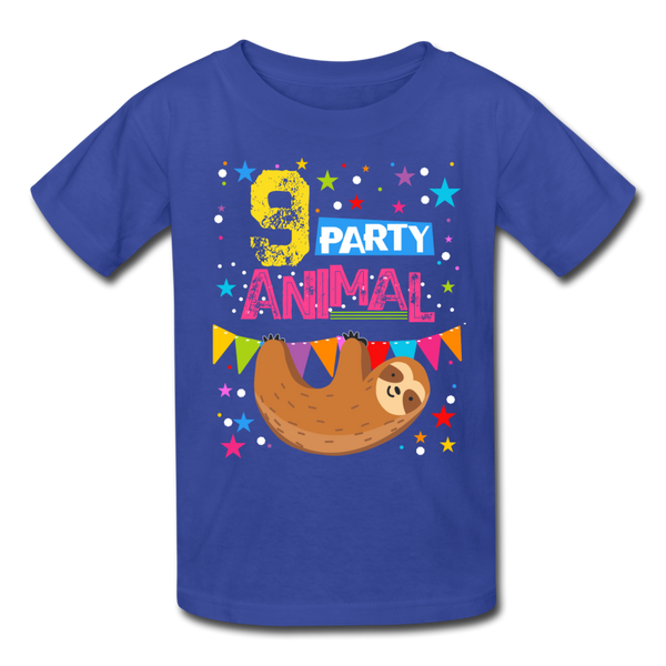 Sloth Party Animal 9 T-Shirt - royal blue