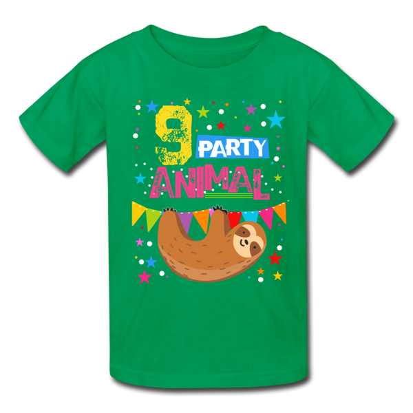 Sloth Party Animal 9 T-Shirt - kelly green