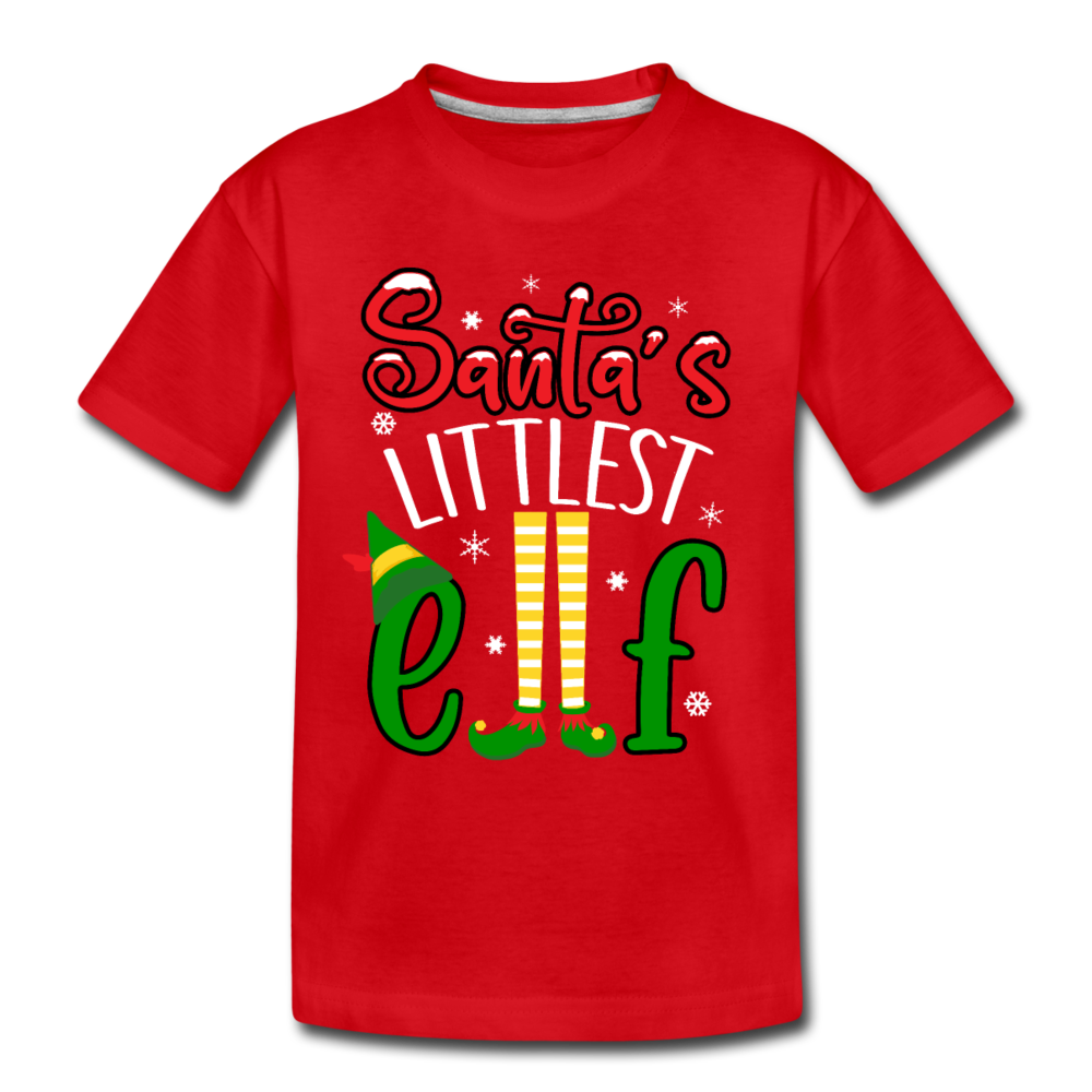Santa's Little Elf Toddler Premium T-Shirt - red