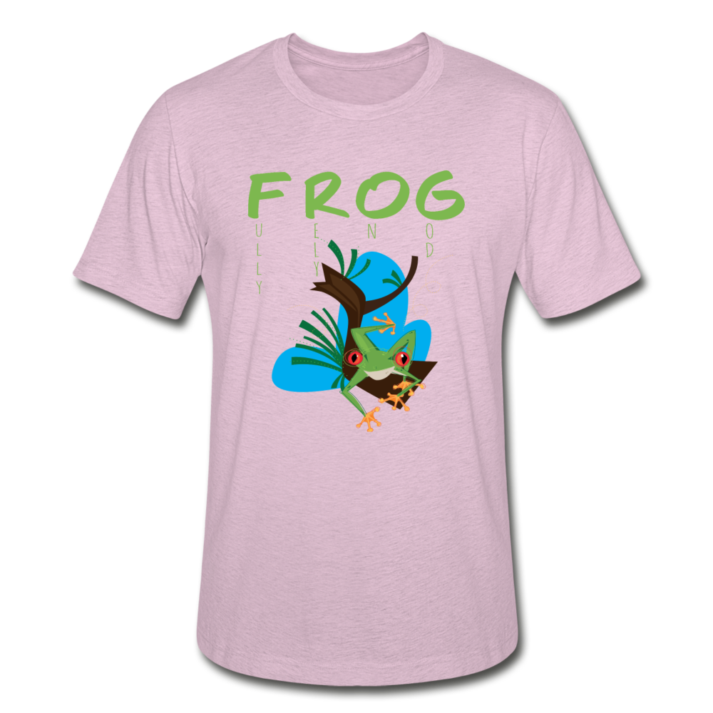 Fully Rely On God Frog Unisex Heather Prism T-Shirt - heather prism lilac