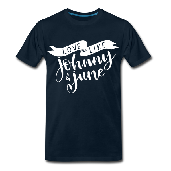 Love Like Johnny & June Premium T-Shirt - deep navy