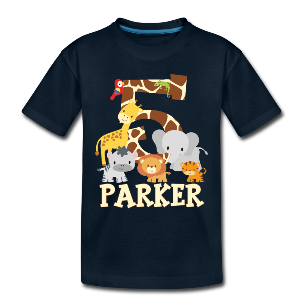 Parker 5 Kids' Premium T-Shirt - deep navy