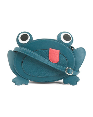 Lily Bloom Tropical Frog Blue Crossbody Bag