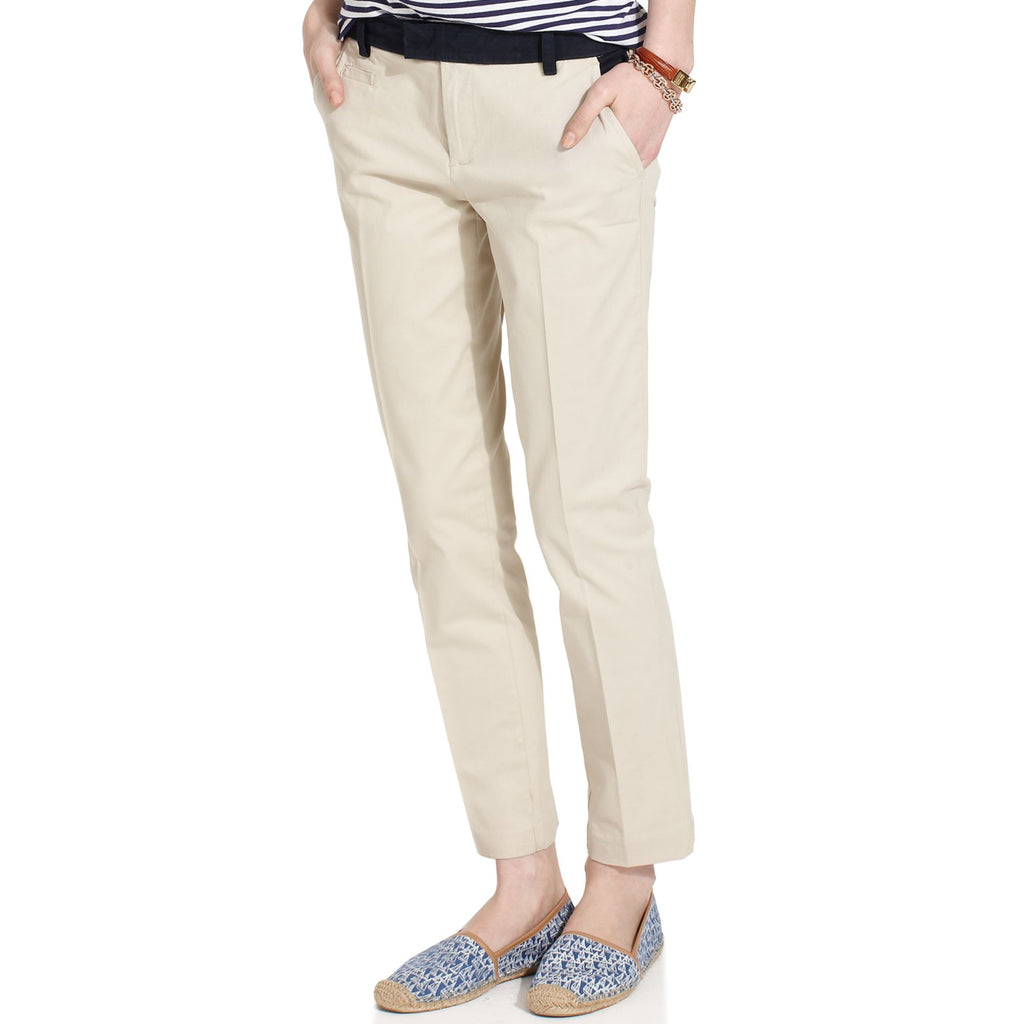 Tommy Hilfiger NWT Low Rise Straight-Leg Colorblock Pants in Peyote, Size 2 - Swanky Bazaar