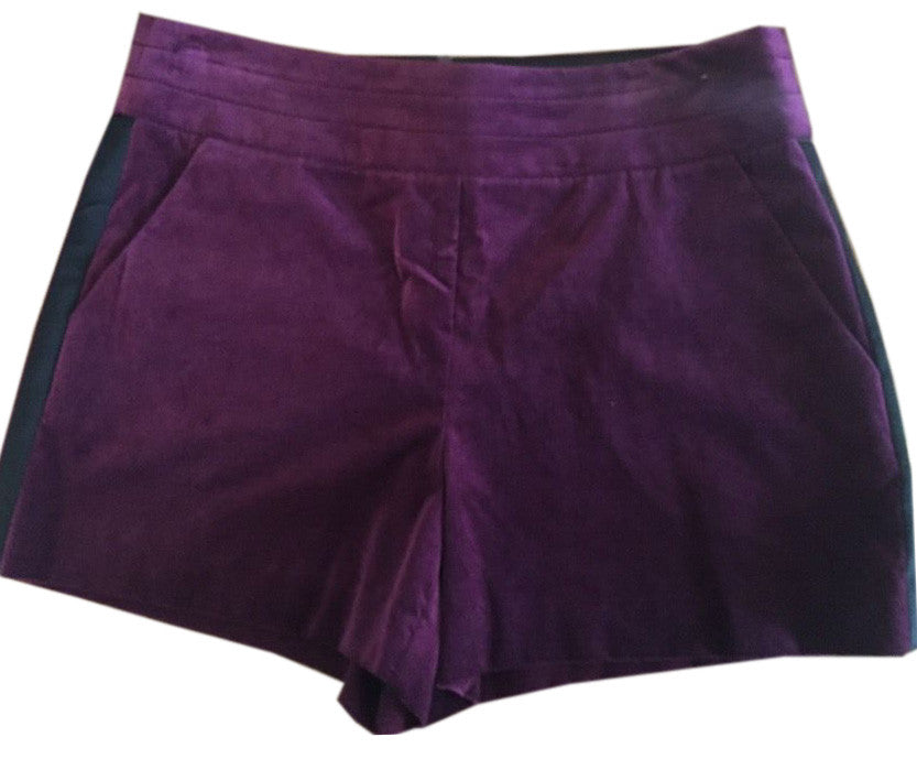 Trina Turk $238 Honore Orchid Mid-Rise Velvet Dress Shorts Size 12