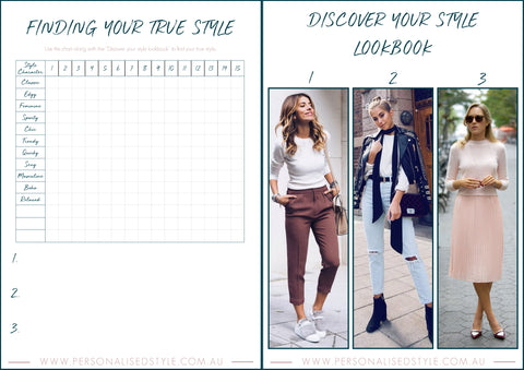 Find your style worksheet and lookbook | Personal Styling