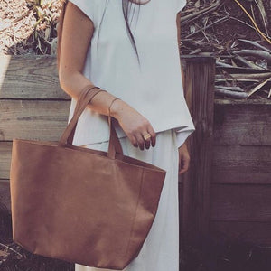 Large leather tote bag | Personalised Style | Afterpay | Nappy Bag | Boho