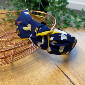 Twist knot headband | Navy mix | Tiger Tree