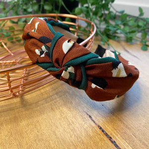 Twist knot headband | Bronze mix | Tiger Tree