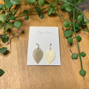 Leaf drop earrings | Small | Gold | Tiger Tree
