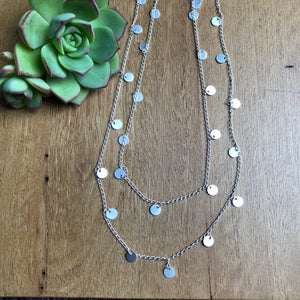 Wrap around necklace | Silver with small discs | AfterPay | TigerTree