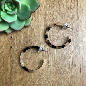 Tortoise shell hoop earrings | Tiger Tree | AfterPay