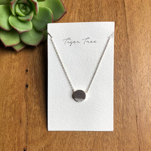 Stone set silver pendant | Short length | Afterpay