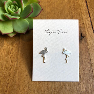 Flamingo Stud earrings | Silver | Tiger Tree | AfterPay