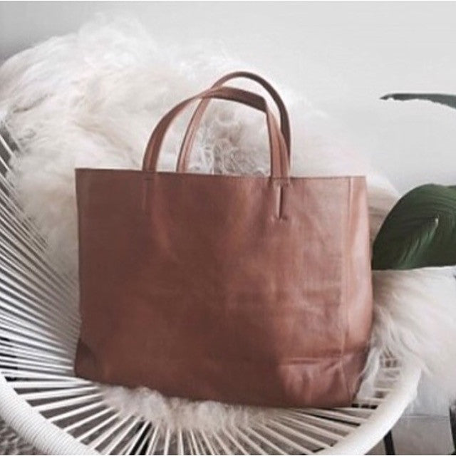 Large leather tote bag | Phat Cow Co | Afterpay