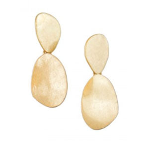 Double drop statement earrings - Gold | Tiger Tree