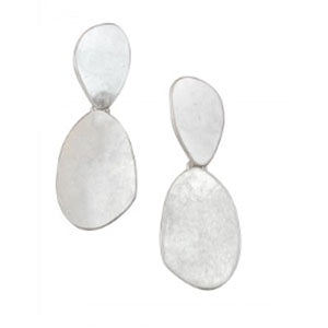 Double drop statement earrings - Silver | Tiger Tree