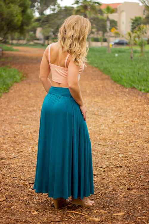 Gem Ruched Waist Skirt