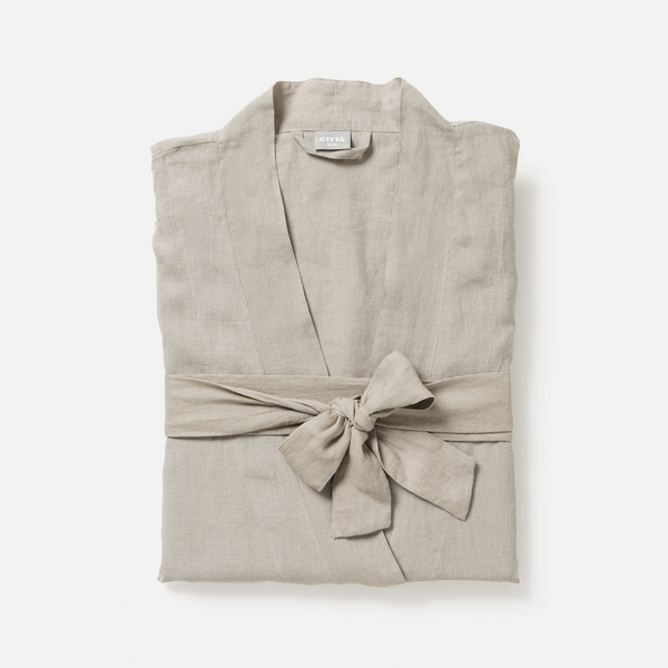 100% Linen Dressing Gown - Soft Sage