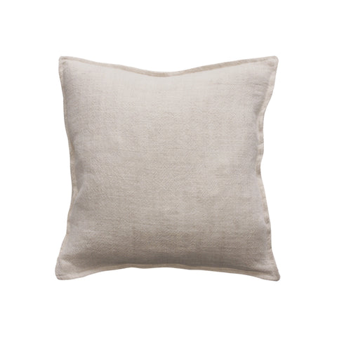 Flaxmill Linen Cushion - Nude