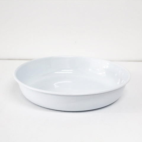 Large Serving Bowl - Simple White Enamelware