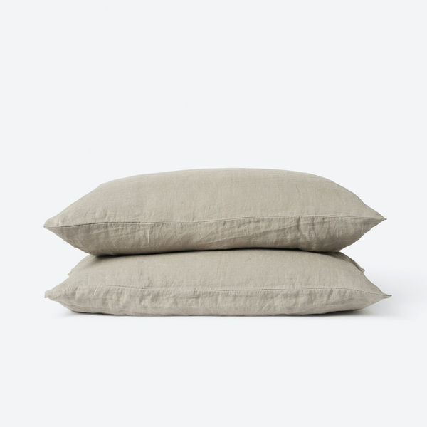 Linen Pillowcase Pair - Soft Sage