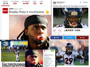 LOUDMOUTHGUARDS goes viral during SUPERBOWL 50!