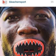 Bleacherreport Features Ronnie Hillman and his SHARK TEETH LOUDMOUTHGUARDS