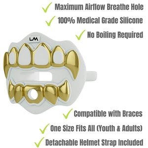 3D CHROME GRILLZ - Gold & White