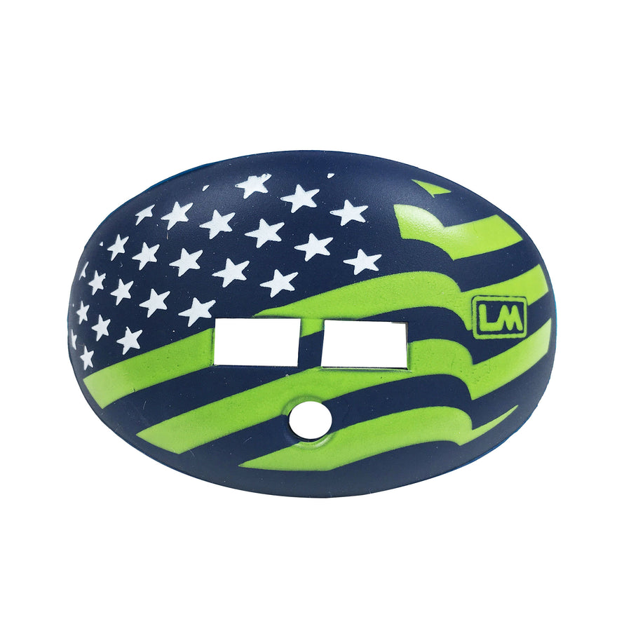 FLAGS-USA-FLUORESCENT GREEN-NAVY BLUE-850867006819