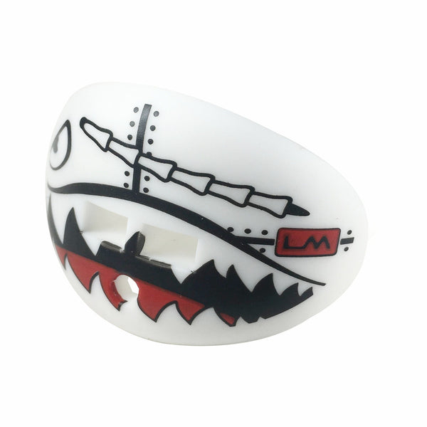 military flying tiger white football lip protector mouthguard. Black Bedroom Furniture Sets. Home Design Ideas