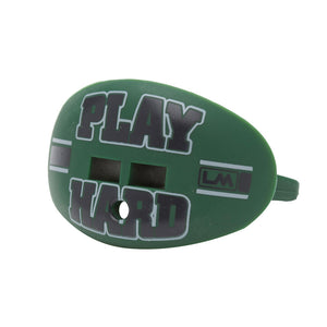 LOUDMOUTHGUARDS PLAY HARD Spartan Dark Green + Black 850867006451