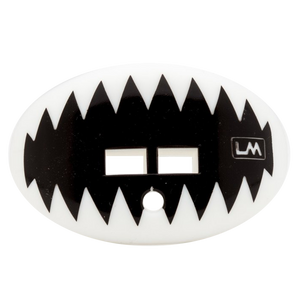 LOUDMOUTHGUARD SHARK TEETH GHOST WHITE WITH STRAP 850867006574