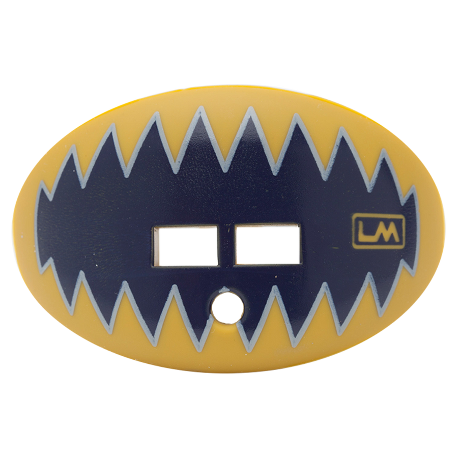 LOUDMOUTHGUARDS SHARK TEETH NAVY BLUE GOLD