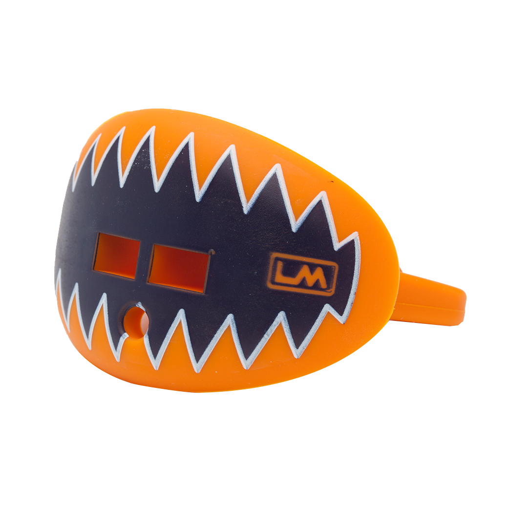 LOUDMOUTHGUARD SHARK TEETH Tiger Light Orange + Navy Blue 850867006192